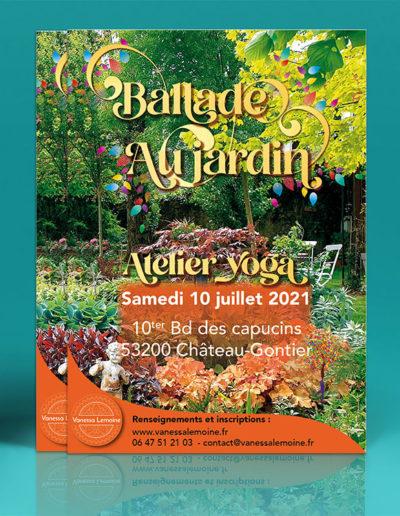 Flyer Ballade au jardin yoga jardin